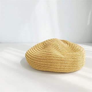 SHENTIANWEI Milk Silk Female Summer Thin Breathable Beret hat Female Korean Version of The Spring and Autumn Wild Japanese Painter Cap Tide of England (Color : Turmeric, Size : One Size)