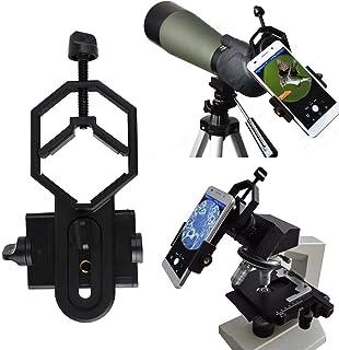 SOLOMARK ユニバーサル携帯電話アダプターマウント-双眼単眼 フィールドスコープスコープ 望遠鏡 顕微鏡と互換性があります iPhone用ソニーサムスンモトなど 外径28~47mm