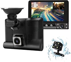 Dash Cam, Dashboard Camera 1080P FHD Car Dvr,Driving Recorder Front and Rear170° &120° Wide Angle Lens,Waterproof Backup Camera,G-Sensor, Loop Recording, Motion Detection,WDR,Parking Monitor
