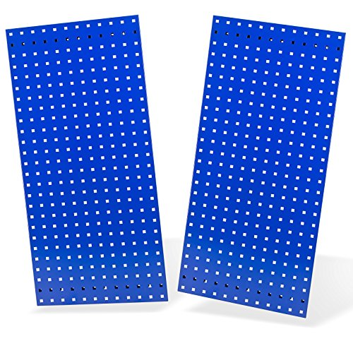 DEMA 2x Lochplatte/Lochwand 987x456 Blau RAL 5003