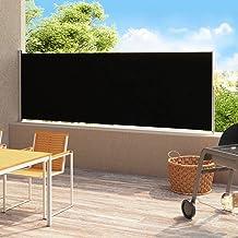 vidaXL Tuinscherm uittrekbaar 180x500 cm zwart