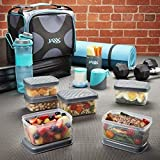 Fit & Fresh JAXX FitPak Deluxe Meal Prep Bag with Portion Control...
