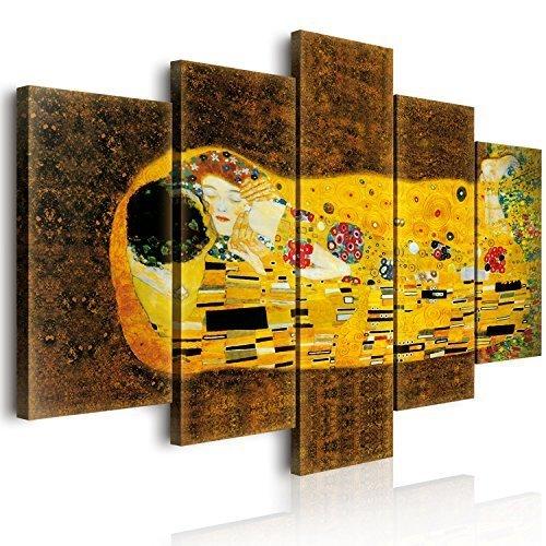 Lupia Cuadro Sobre Lienzo Vogue World «El Beso», de Klimt, 100 x 150 cm
