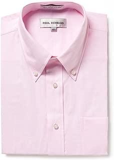 Men's Short Sleeve Oxford Shirt-Wrinkle-Free Button Down Collar
