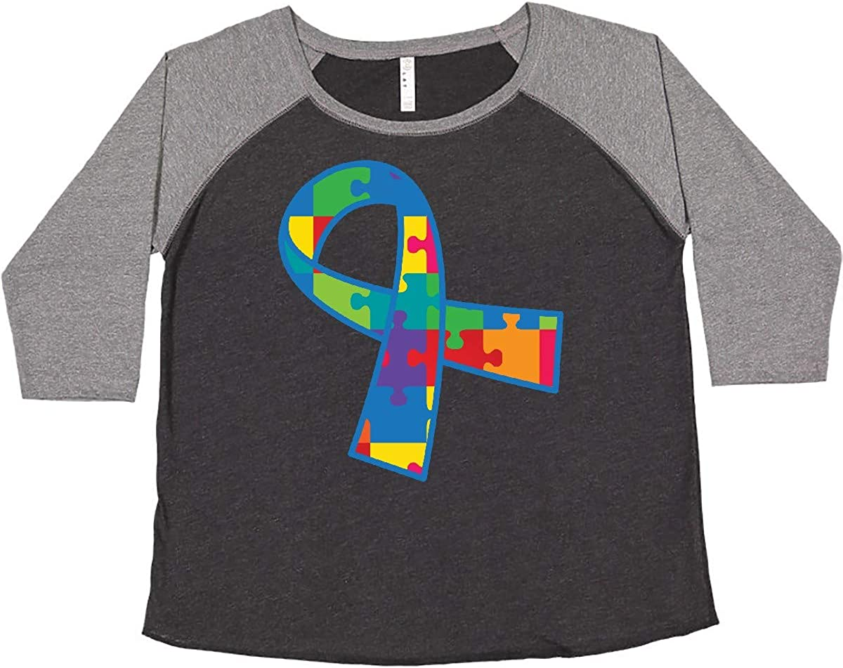 inktastic Luxury goods Autism Puzzle Ribbon Support Plus Max 59% OFF Awareness Women's Si