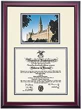 OCM Georgetown Hoyas Diploma Frame Ivory Blue Gray Matting Photograph
