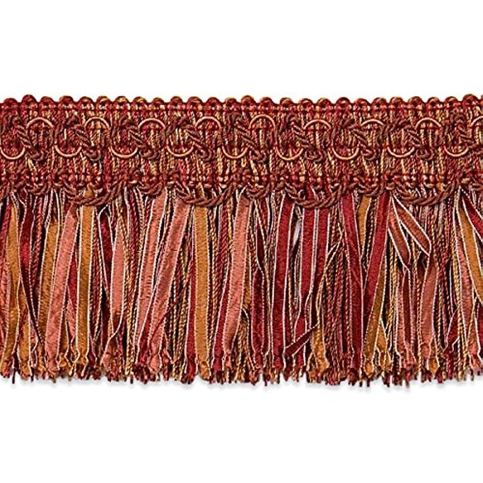 Expo International Cut Ribbon Fringe Trim, 10 yd, Cinnamon/Multicolor