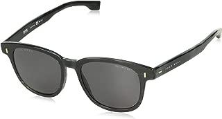 Men's Boss 0956/s Rectangular Sunglasses, GREY HORN, 51 mm