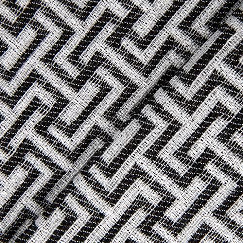DESHOME Maze - Tessuto al metro Jacquard Italiano Stoffa al metro per tappezzeria divani, poltrone, cuscini, sedie - Nero segnale, 1 metro