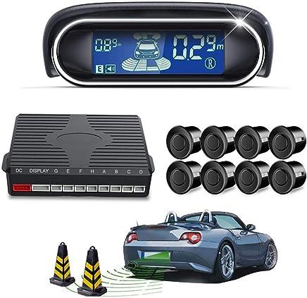 $40 Get Wireless Car Reverse Backup Radar System, Car Reverse Backup Parking Sensor Radar System Kit Auto Radar Detector 8 Sensors Alarm Indicator Reverse Backup Radar System