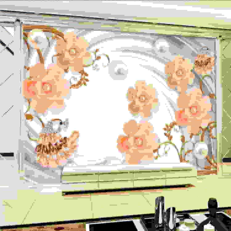 comprar mejor Mgdtt Papel Papel Papel Tapiz Fotográfico 3D Joyería 3D Flor Mural Salón Tv Parojo Estéreo Lobby Papel Tapiz Mural Personalizado De Alta Calidad-200X140Cm  selección larga