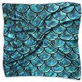Bufanda de seda de satén de gasa para mujer, diseño cuadrado y suave