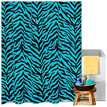 blue zebra shower curtain