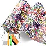 Free Tool Kit ST JDM Bomber Anime Graffiti Cartoon Car Auto Laptop Vinyl Wrap Sticker Decal Film Sheet (4FT x 5FT)