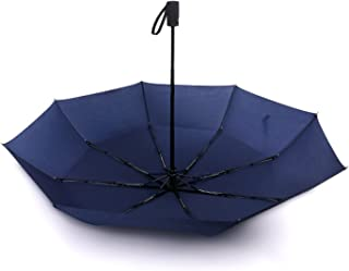 45 Inch Automatic Open Travel Umbrella/Windproof Waterproof 8 Ribs Super Strong Fast Drying Teflon Canopy Umbrella(Blue) BY FUELUS
