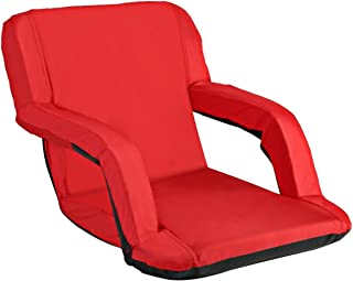 AceLife Stadium Seat Portable Reclining Bleacher Chair with Padded Cushion
