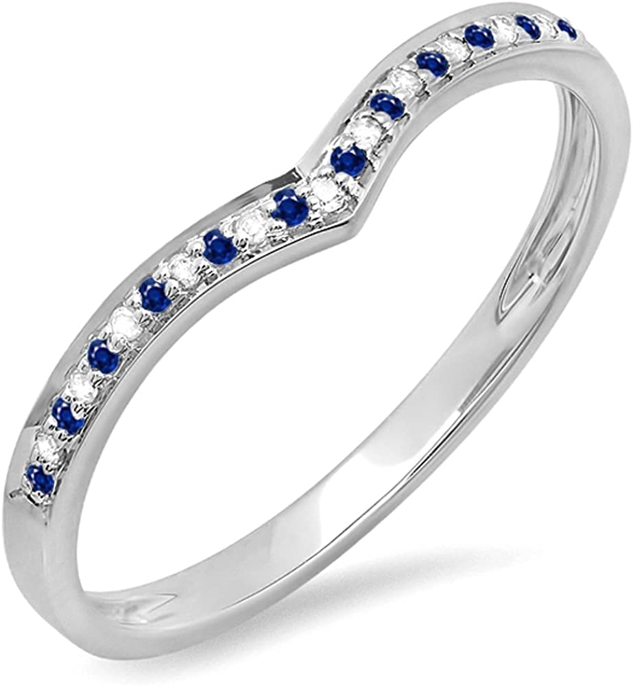 dazzlingjewelrycollection 0.10 Carat Ranking TOP17 Ctw Price reduction Plated 14K Gold White