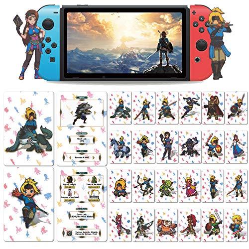 Casinteres 24 carte da gioco NFC per The Legend of Zelda Breath of The Wild per switch/Switch Lite/Wii U (misura standard)