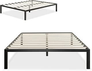 Zinus Mia Modern Studio 14 Inch Platform 1500 Metal Bed Frame / Mattress Foundation / No Box Spring Needed /  Wooden Slat Support / Good Design Award Winner / Black, King