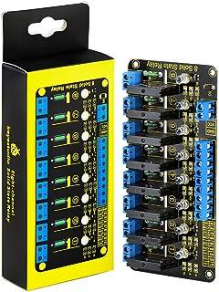 KEYESTUDIO Relè a stato solido a otto canali per PIC AVR DSP ARM Relay Module Efficiente uscita AC240V / 2A ad alto livell...