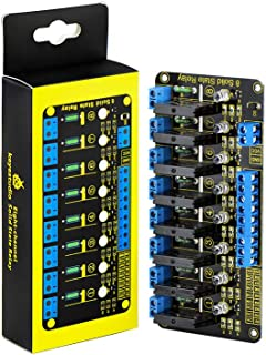 KEYESTUDIO Eight-Channel Solid State Relay for Arduino PIC AVR DSP ARM Relay Module Effective High-Level AC240V/2A Output