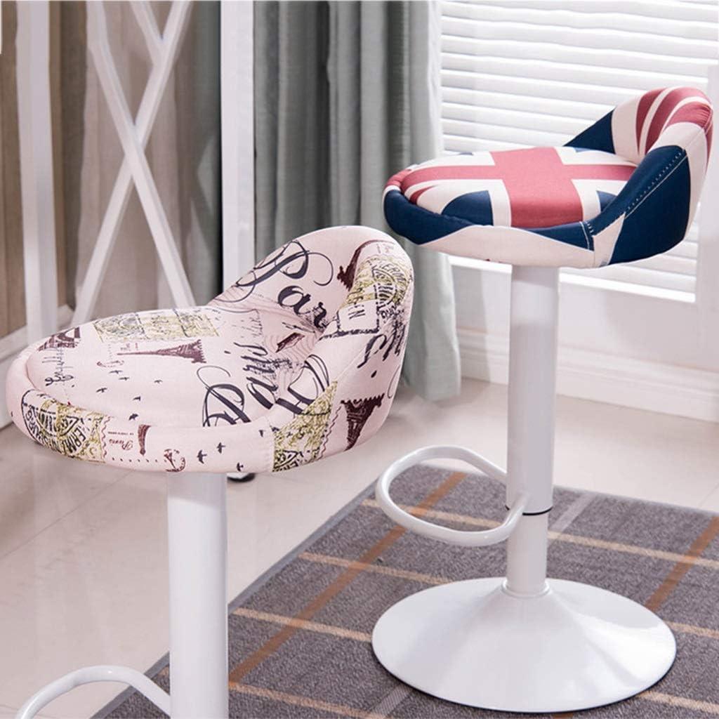 Tabouret de bar de petit déjeuner Tabouret de bar, chaise pivotante simple nordique, chaise d'hôtel (Couleur : D) F