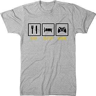 Trunk Candy Eat Sleep Game Men's Modern Fit Tri-Blend T-Shirt