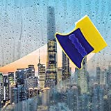 Antson Magnetic Window Cleaner Double-Side Glazed Two Sided Glass Cleaner Wiper with 2