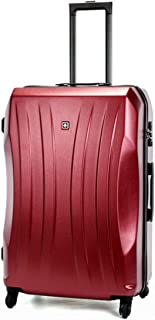 "SRY-Luggage PC Material Trolley Case, Frosted Luggage, Roller Walking Rolling Box, 20"" 24"" Inches Durable Carry on Luggage (Color : Red, Size : 20inch)"