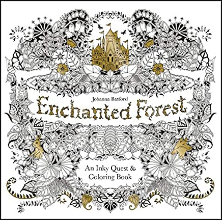 Enchanted Forest:An Inky Quest and Colouring Book