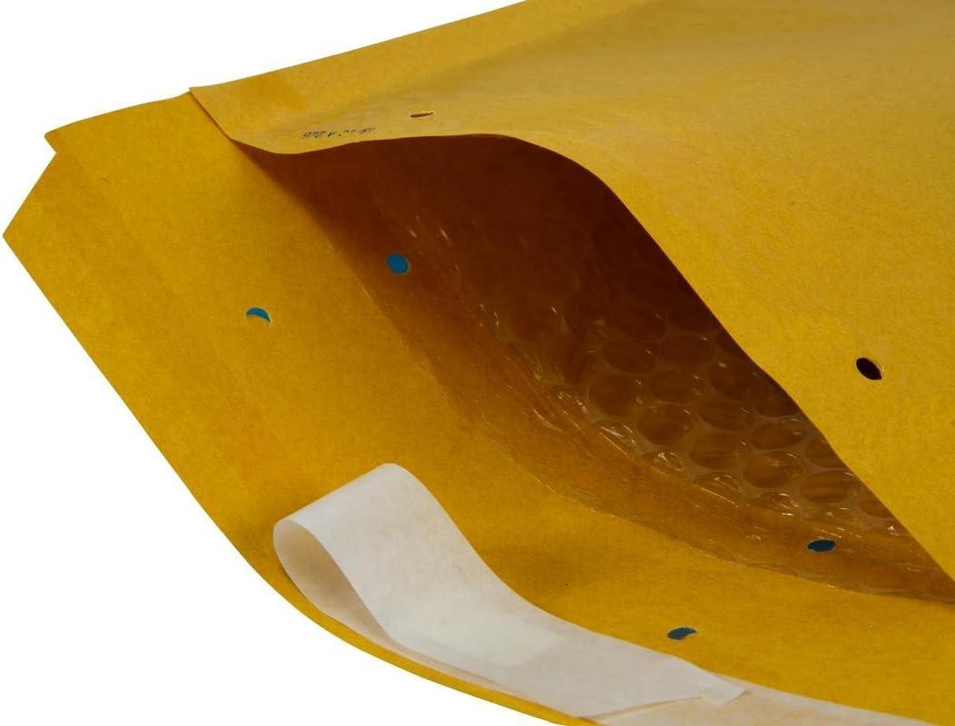 250/x 350/mm DIN A4/+ C4/Air Lot de 100/enveloppes Enveloppes /à bulles 50 St/ück G7 marron//dor/é Rembourrage poches Taille G7/
