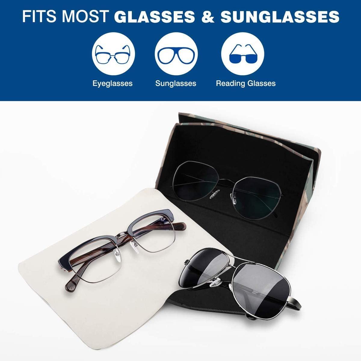 Glasses Case Cool Usa Shape Camo Eyeglass Case Leather Magnetic Folding Hard Case Sunglasses Eyewear Protective Case