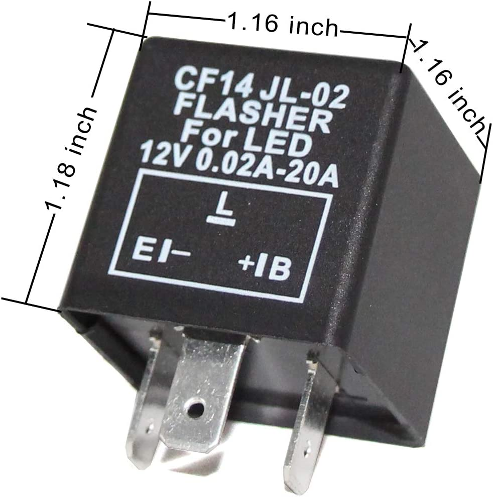 Alla Lighting 40 Pin CF40 EP405 Electronic LED Flasher Relay For LED Related  Turn Signal Bulbs Hyper Flash Fix