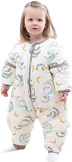 JinBei Saco de Dormir Invierno Mono Para Bebé con Piernas, Mangas Largas Desmontables, Con Pies, Cálido Forro, Para Niños ...