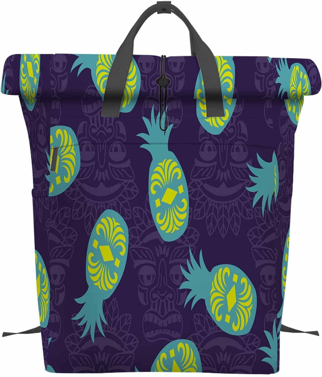 EKOBLA Pineapple Folding Max 50% Seattle Mall OFF Portable Backpack Ultra Lightwei Laptop