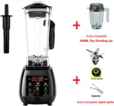Bpa Free High Power Digital Touchscreen Automatically Program 3Hp Blender Mixer Juicer Food Processor Ice Green Smoothie,Black Dry Jar Part,Uk Plug