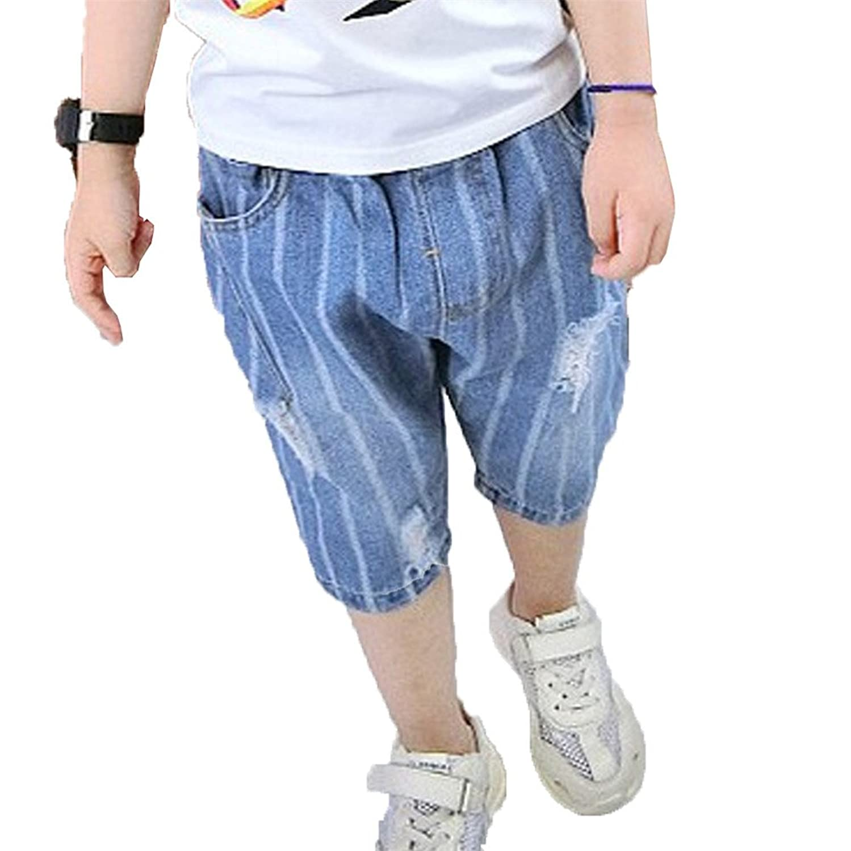 [美しいです] 夏 デニムパンツ 子供服 ジーンズ 男の子 ズボン ショーツ ショートパンツ カジュアル 通学 ファンション ボトムズ キッズ かっこいい カジュアルパンツ ボーイズ 通園 おしゃれ