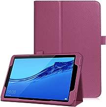 جراب تابلت GILIF لهاتف Huawei Mediapad T5 10 بوصة، 2019 أحدث مواكبة للموضة من جلد صناعي مع غطاء قلاب بحامل يمنحك الشعور بالراحة والأمان وسهولة الاستخدام 10 inches