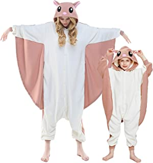 NEWCOSPLAY Unisex Adult Kid Flying Squirrel Pajamas- Plush One Piece Costume