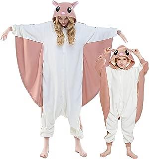 Unisex Adult Flying Squirrel Pajamas- Plush One Piece Costume