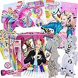 Ultimate JoJo Siwa Gifts 26Pc Set - Fashion Art & Activity Craft Kit, Jojo Bow 8 Inch, Collectible Jojo Tin Box, Jojo Coloring Book & Stickers, & More - Arts and Craft Kits for Kids 3, 4, 5, 6, 7, 8