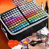 Véritable Touch Marker Set Couleur Art Étudiants Animation Stylo À Huile École Primaire Junior High School Peinture Aquarelle Marqueur, 168 couleurs