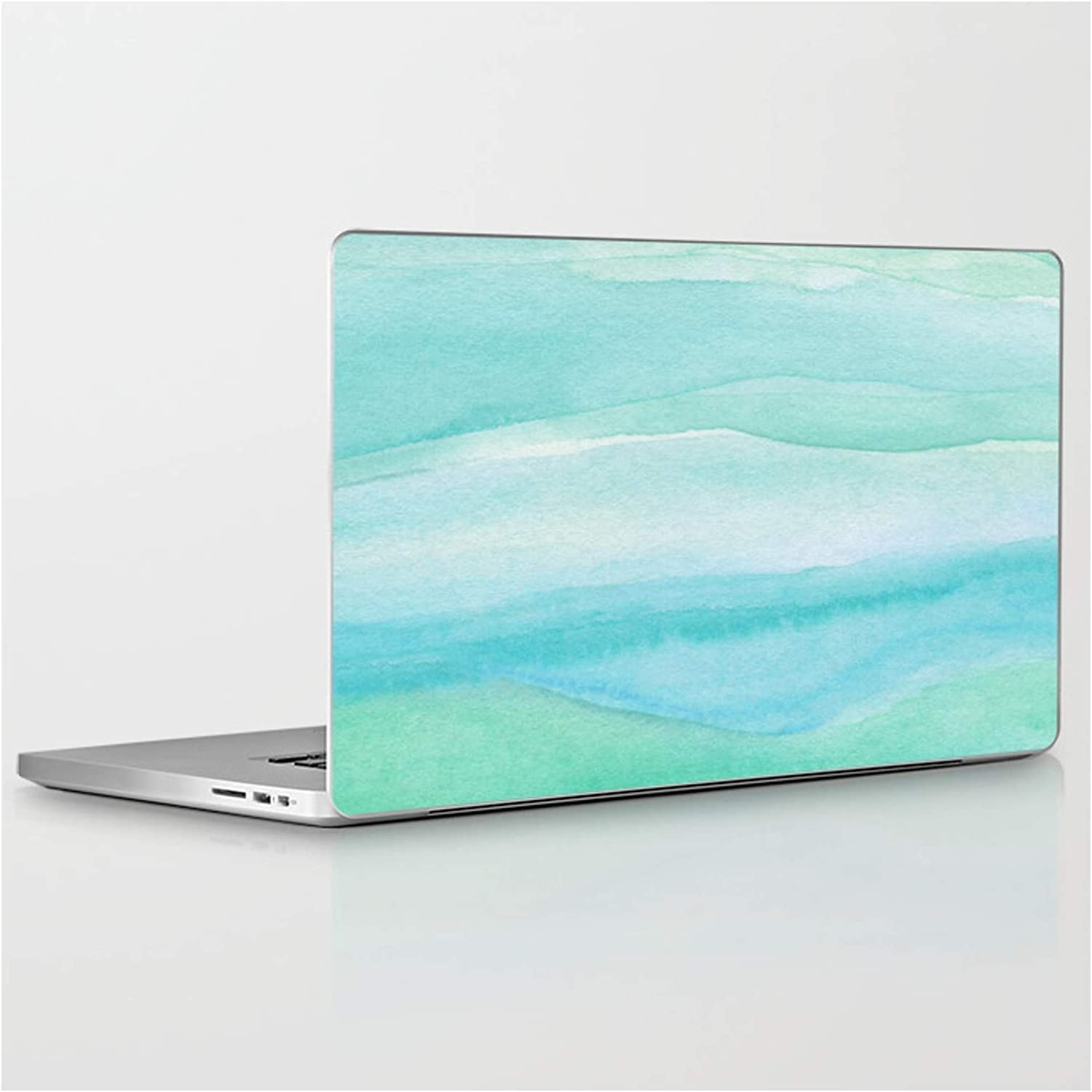Ocean Layers - Blue Green Watercolor Whimsy by on Save money Sky Lapto Soldering