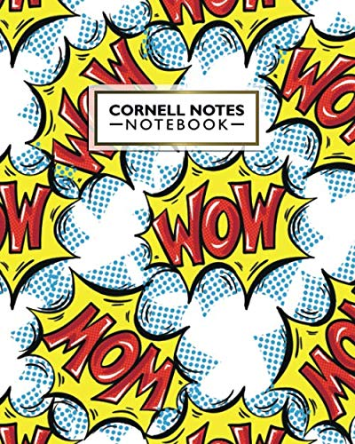 Cornell Notes Notebook: Amazing Comic Cornell Note Medium Lined Paper Notebook - Nifty Cartoon Large College Ruled Journal Note Taking System for School and University