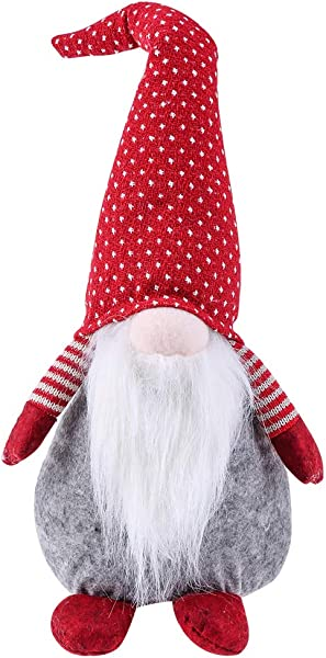 Juegoal 18 Handmade Swedish Tomte Gnome Plush Santa Claus Elf Doll For Home Ornaments Kids Birthday Gift Holiday Table Decoration
