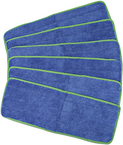 CleanAide All Purpose Mega Microfiber Mop Pads for 18 Inch Plate 6 Pack
