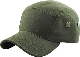 KBETHOS Five Panel Solid Color Unisex Adjustable Army Military Cadet Cap