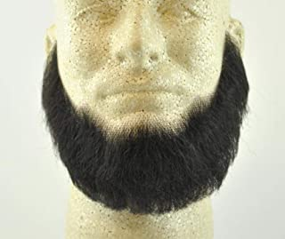 Full Character Beard BLACK - 100% Human Hair - no. 2024 Spirit Gum Included - REALISTIC! Perfect for Theater and Stage - Reusable!