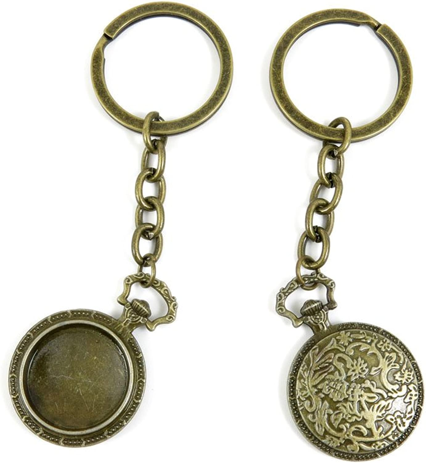 100 PCS Keyrings Keychains Key Ring Chains Tags Jewelry Findings Clasps Buckles Supplies H4EM7 Pocket Watch Cover
