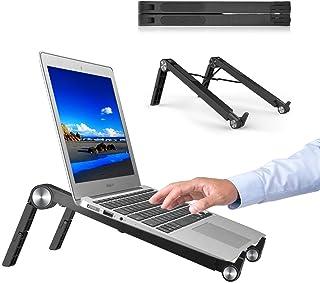 YJHome Bärbar dator stativ, bärbart laptopstativ för kylning, höjdjusterbart ventilerat stativ för bärbar dator kompatibel...